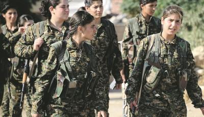 Les YPJ, constituées en 2012, ont pris le contrôle de presque la totalité du Rojava, dans le nord de la Syrie.