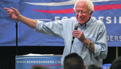 Sanders marque sa distance avec l'élite du parti démocrate, dont Hillary Clinton est une figure symbole.